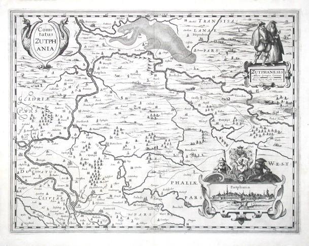 Comitatus Zutphania - Antique map
