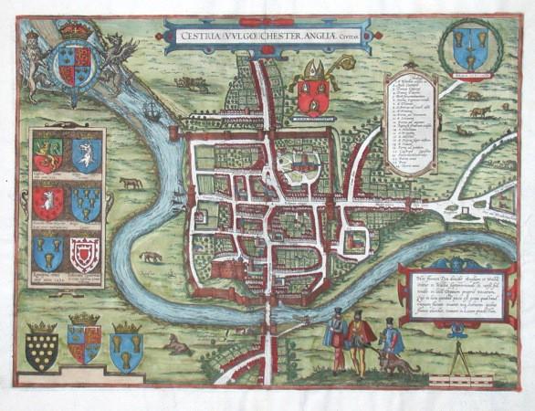 Cestria vulgo Chester, Angliae Civitas.