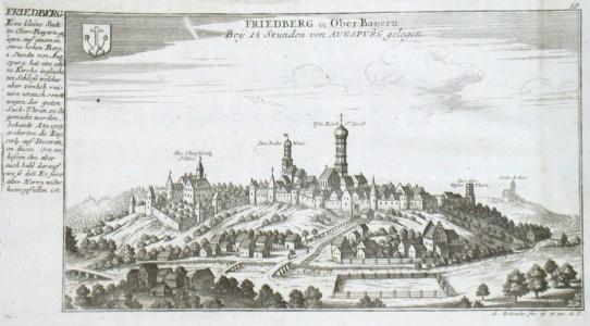 Friedberg in Ober Bayern Bey 1 1/2 Stunden von Augsburg gelegen