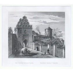 Das Prager Thor zu Tabor. Pražská brána v Táboře