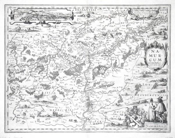 Namurcum Comitatus - Antique map