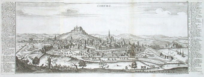 Coburg - Alte Landkarte