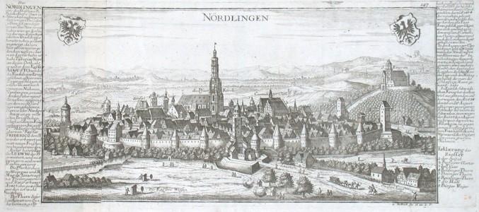 Nördlingen - Antique map