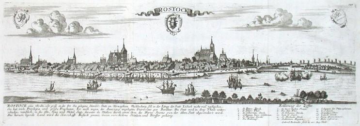 Rostock - Antique map