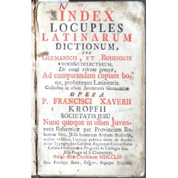 Index Locuples Latinarum Dictionum