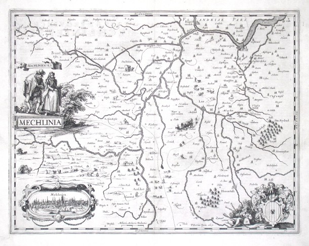 Mechlinia - Antique map