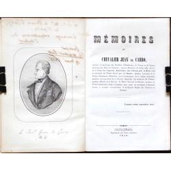 Mémoires du Chevalier Jean de Carro