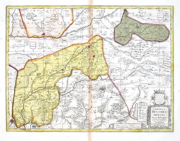 Comitatus Bentheimensis Noua Descriptio - Alte Landkarte