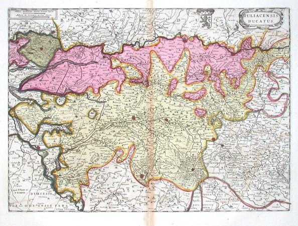 Iuliacensis Ducatus - Alte Landkarte