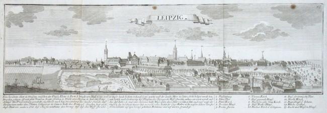 Leipzig - Alte Landkarte