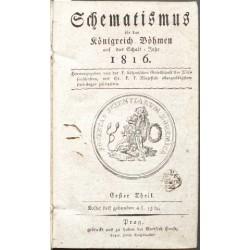 Schematismus für das Königreich Böhmen ... 1816