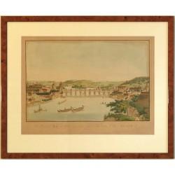 Die Hauptstadt Prag vom Belvedere an zu sehen