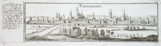 Paderborn - Alte Landkarte