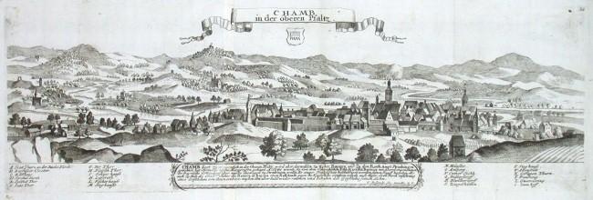 Chamb in der oberen Pfaltz - Alte Landkarte