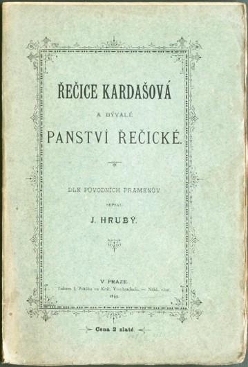 Řečice Kardašová a bývalé panství řečické