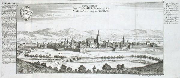 Forchheim Eine Bischofflich Bambergische Statt und Vestung in Francken