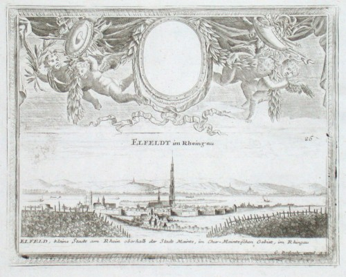 Elfeldt im Rheingau - Antique map