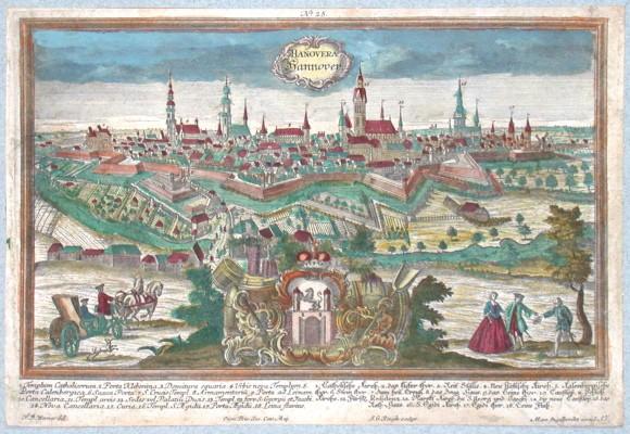 Hanovera Hannover - Antique map