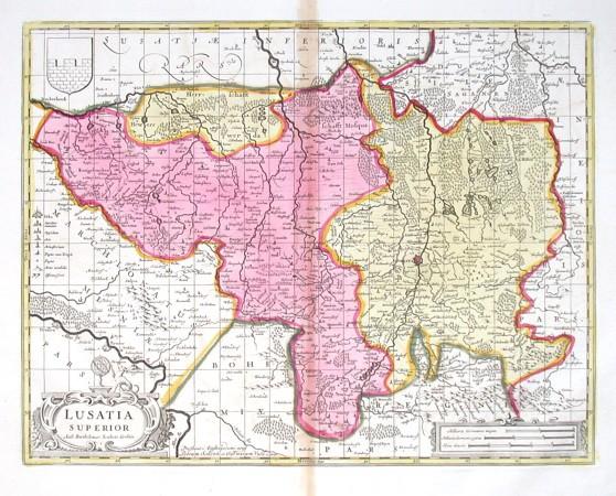Lusatia Superior - Alte Landkarte