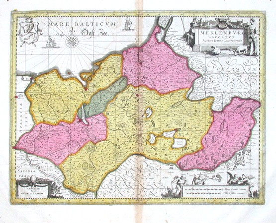 Meklenburg Ducatus - Stará mapa