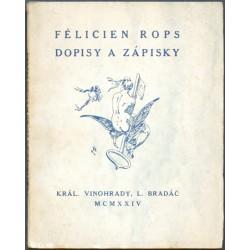 Félicien Rops. Dopisy a zápisky