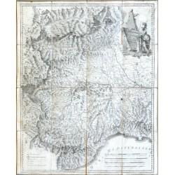 Piemonte diviso in quattro Dipartimenti