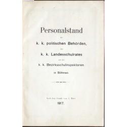 Personalstand der k. k. politischen Behörden, 1917