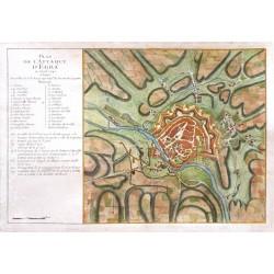 Plan de l'Attaque d'Egra en April 1742