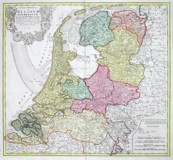 Septem Provinciae seu Belgium Foederatum quod generaliter Hollandia audit - Alte Landkarte