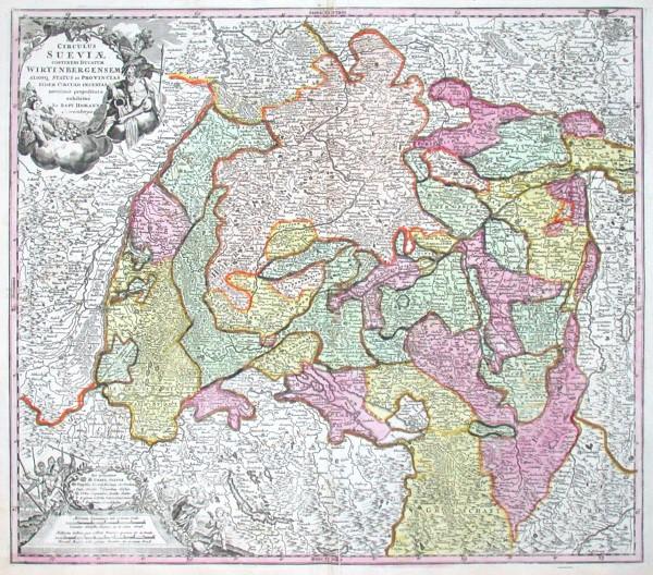 S.R.I. Circulus Sueviae - Antique map