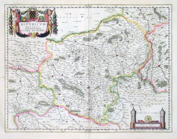 Bituricum Ducatus. Duche de Berri. - Alte Landkarte