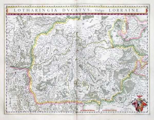 Lotharingia Ducatus - Vulgo Lorraine - Antique map