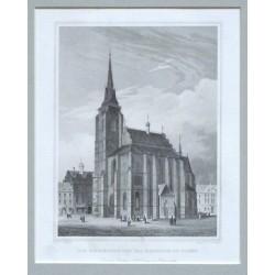 Die Stadtkirche und das Rathhaus in Pilsen