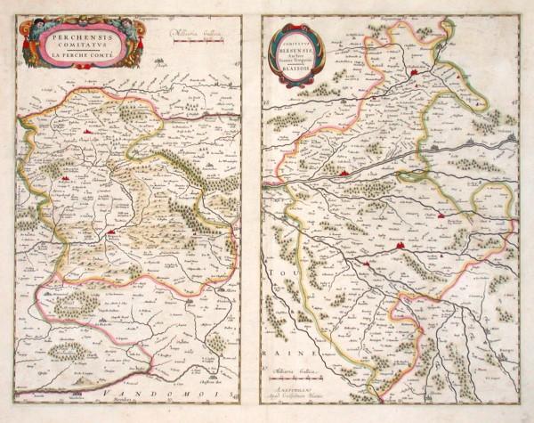 Perchensis Comitatus. Le Perche Comté - Comitatus Blesensis, Auctore Ioanne Temporio. Blaisois.