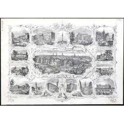 Ansicht von Hannover - Souvenirblatt
