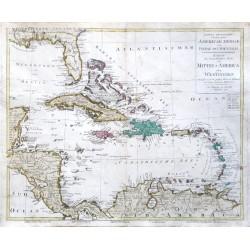 Tabula ... Americae Mediae ... Karte des Mittel-America oder Westindien