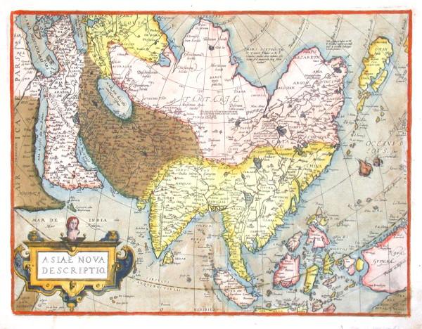 Asiae nova descriptio - Stará mapa