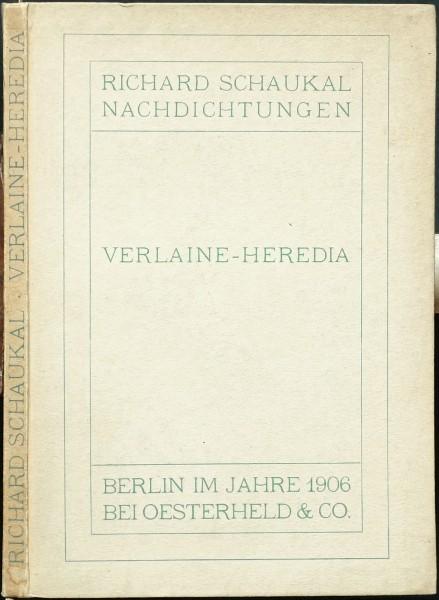 Verlaine-Heredia. Nachdichtungen