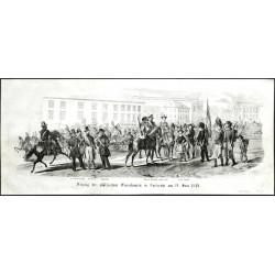 Karlsruhe - Einzug der pfälzischen Freischaaren in Carlsruhe am 19. Juni 1849