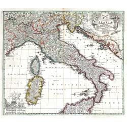 Nova et exactissima totius Italiae, Sardiniae et Corsicae Delineatio
