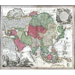 Asia cum omnibus Imperiis, Provinciis, Statibus et Insulis Iuxta Observationes  Correcta et Adornata