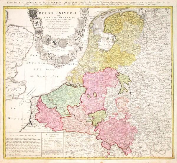 Belgii Universi seu Inferioris Germaniae - Alte Landkarte