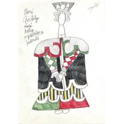 Paní Qickly - stará bába v pláštěnce