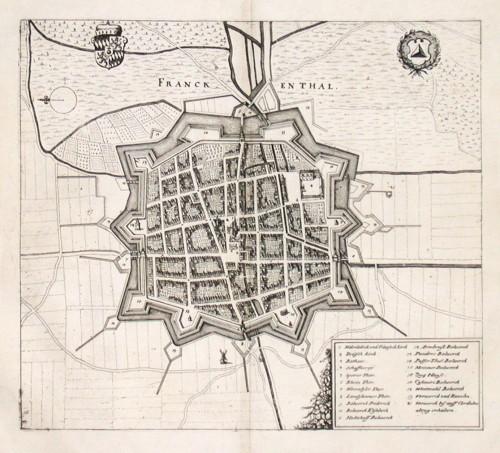 Franckenthal - Stará mapa