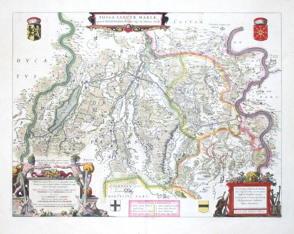 Fossa Sanctae Mariae, quae et Eugeniana dicitur vulgo de Nieuwe Grift - Antique map