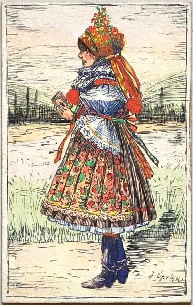 Slovácké děvče v kroji