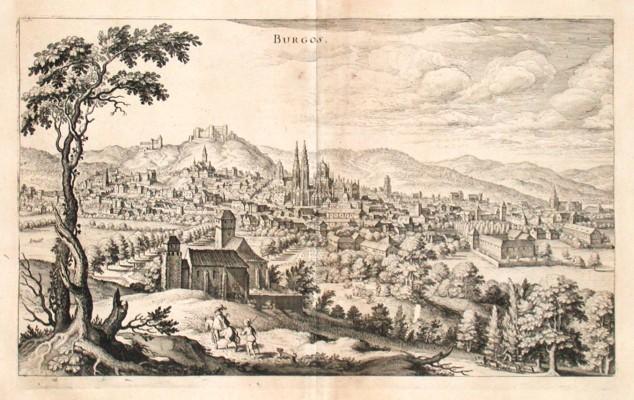 Burgos - Alte Landkarte