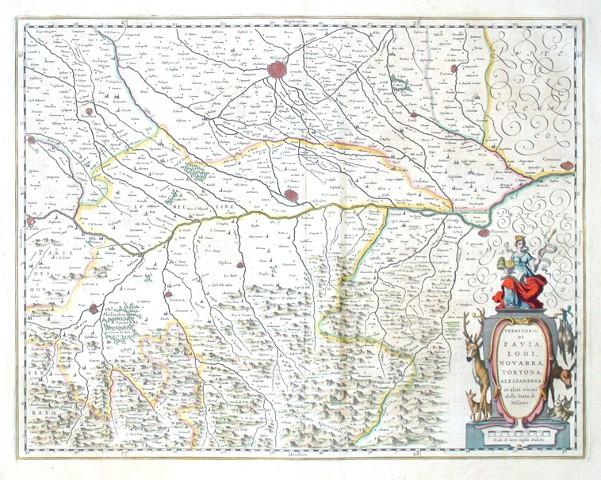 Territorio di Pavia, Lodi, Novarra, Tortona, Alessandria et altri vicini dello Stato di Milano - Stará mapa