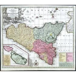 Mappa Geographica totius Insulae et Regni Siciliae