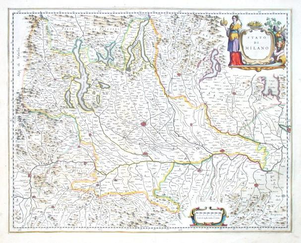 Stato di Milano - Stará mapa